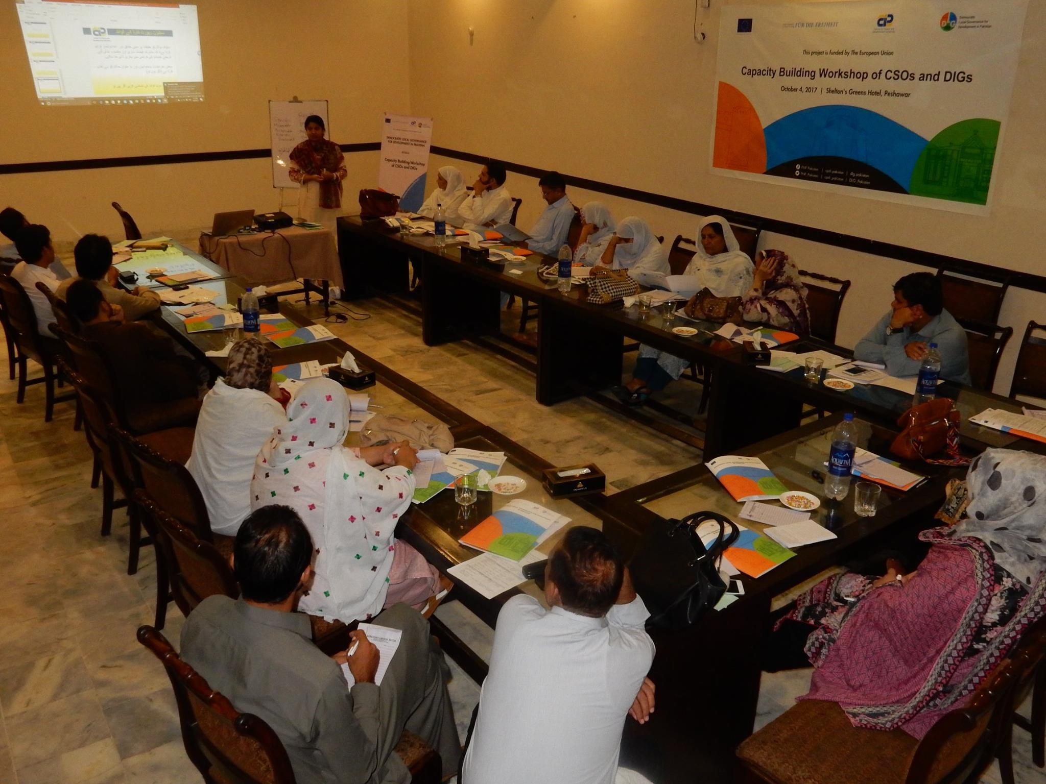 Capacity building workshops of CSOs and DIGs