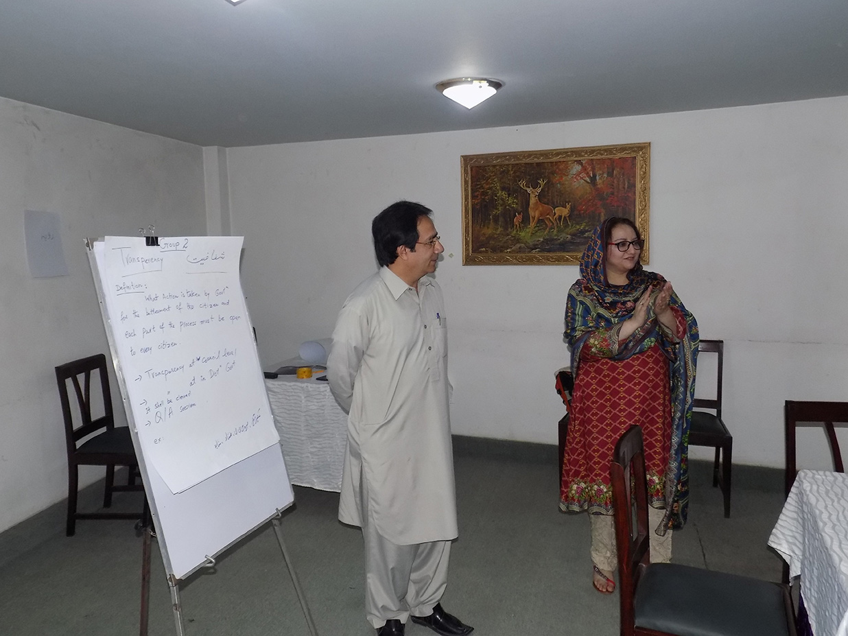 Workshop on Khyber Pakhtunkhwa Right to Public Services Act-2014